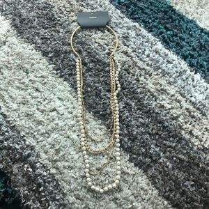 NWT Faux pearl & Chain layered necklace - EXPRESS